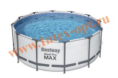 BestWay 56420 Каркасный бассейн Steel Pro Max 3.66 х 1.22 м( картриджный фильтр-насос 2006 л/ч + лестница,тент)