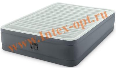 INTEX 64474 Двуспальная надувная кровать PremAir 152х203х46см (со встроенным насосом 220В)