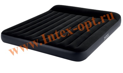 INTEX 64144 Матрас надувной Pillow Rest Classic Fiber-Tech, 183 х 203 х 25 см (без насоса)