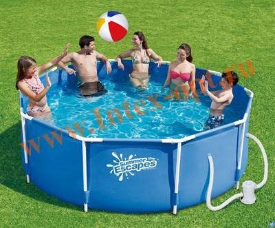 Summer Escapes Р20-1042-A Бассейн на опорах 305х106см (фильтр-насос 220В)