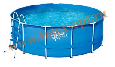 Summer Escapes Р20-1252-Z Бассейн на опорах 366х132 см (лестница, настил, тент)