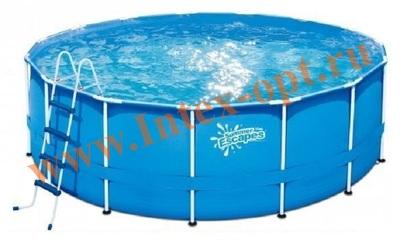 Summer Escapes Р20-1352-Z Бассейн на опорах 396х132 см (лестница, настил, тент)