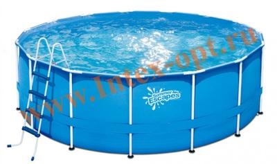 Summer Escapes Р20-1452-Z Бассейн на опорах 427х132 см (лестница, настил, тент)