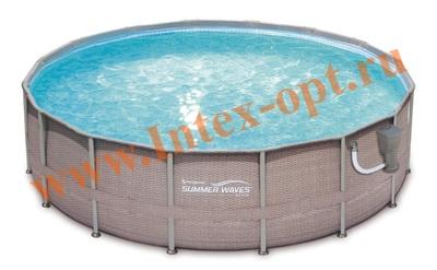 Summer Escapes Р20-1852-B Бассейн на опорах 549х132 см (фильтр-насос 5,7м3 220В, лестница, настил, тент, набор для чистки DELUXE, скиммер)