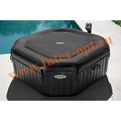 INTEX 28454 Надувной гидромассажный бассейн джакузи Jet & Bubble Deluxe+ хлор-генератор+ 4 массажные форсунки 201х71см