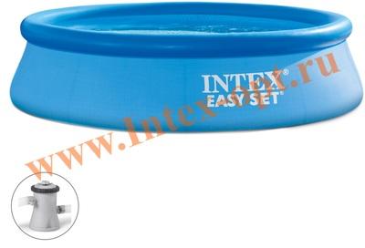INTEX 28122 Бассейн с надувным кольцом Easy Set 305х76 см с фильтр-насосом 2 м3/ч 220 В