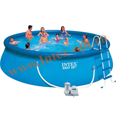 INTEX 28176(26176) Бассейн надувной 549х122 см (видео, фильтр-насос 5.7 м3/ч 220 В, лестница, настил, тент)