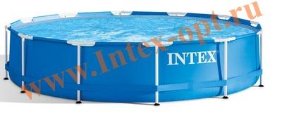 INTEX 28200(28700) Бассейн каркасный круглый 305х76 см(с DVD инструкцией)