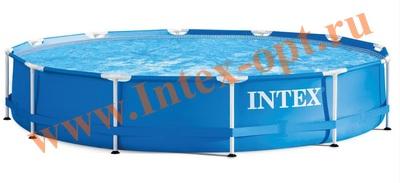 INTEX 28210(28710) Бассейн каркасный круглый 366х76 см(с DVD инструкцией)