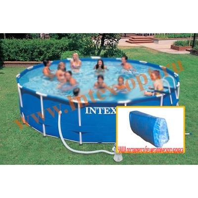 INTEX 10584 Чаша для круглых каркасных бассейнов Metal Frame 457х91 см (для бассейнов арт.28232, 5940, 56942, 54942)