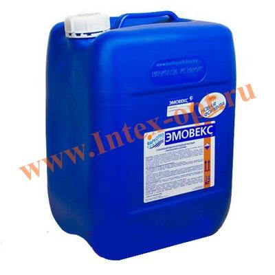 Маркопул Кемиклс (Россия) Эмовекс 30 л.(34 кг.)жидкий хлор для комплексной дезинфекции воды(новая формула)