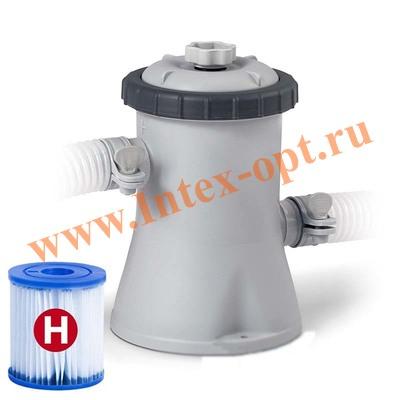 INTEX 28602 Картриджный фильтр-насос для очистки воды плавательных бассейнов 1250 л/ч, 220-240 В