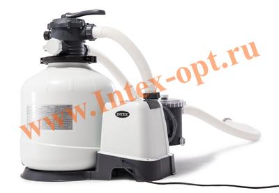INTEX 28648(26648) Песочный фильтр-насос для очистки воды плавательных бассейнов 8 куб.м/ч, 220 В