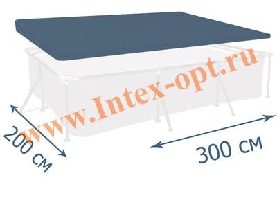 INTEX 28038 Тент для прямоугольных каркасных бассейнов 300х200х75 см