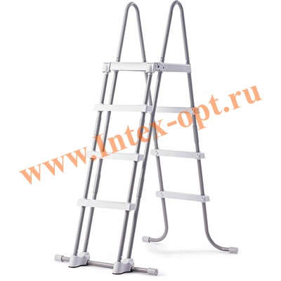 INTEX 28073(28076) INTEX Лестница для каркасных и надувных бассейнов 122 см ( с площадкой)