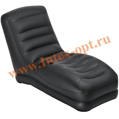 INTEX 68585 Надувное кресло-шезлонг Mega Lounge 81х173х91 см(без насоса)чёрное