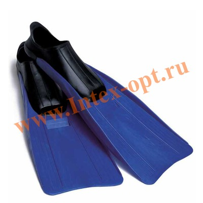 INTEX 55933 Ласты для плавания Small Super Sport Fins (размер 35-37)синие