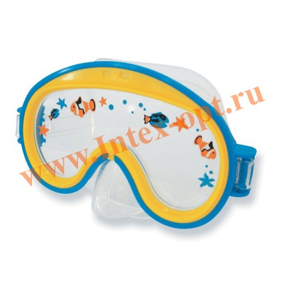 INTEX 55911 Маска для плавания Mini Aviator Swim Masks (от 3 до 8 лет)синяя