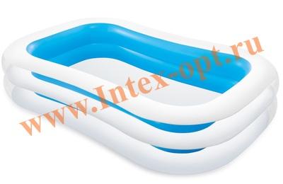 INTEX 56483 Надувной семейный бассейн Волна Swim Center Family Pool 262х175х56 см(от 6 лет)