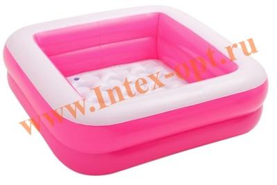 INTEX 57100 Бассейн надувной «Малыш» с надувным полом 85х85х23 см