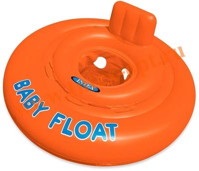 INTEX 56588 Надувной круг с трусиками и спинкой Baby Float Ø 76см(от 1 до 2 лет)без насоса