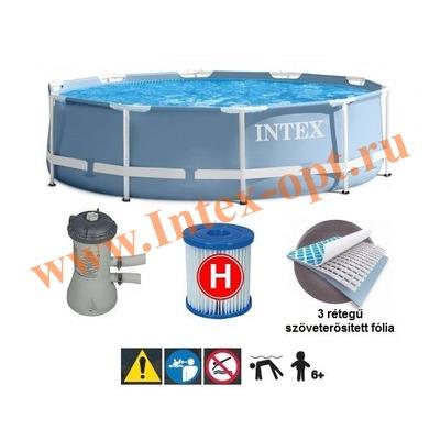 INTEX 28702 (26702)Бассейн каркасный круглый 305х76 см (с фильтр-насосом 220В)