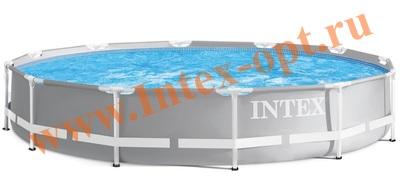 INTEX 28710 (26710) Бассейн каркасный круглый 366х76 см