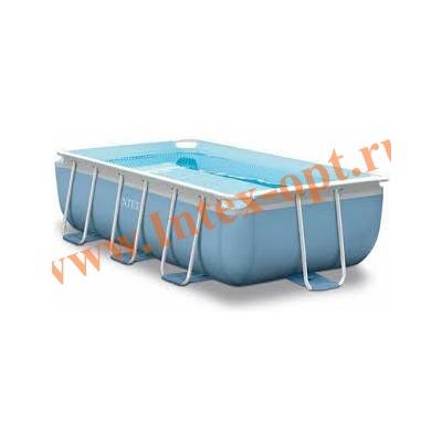 INTEX 28314(26784) Бассейн каркасный прямоугольный 300х175х80 см (видео, фильтр-насос 220В, лестница)