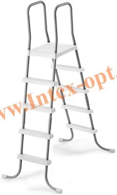 INTEX 28067 INTEX Лестница для для каркасных и надувных бассейнов 132 см (с площадкой)
