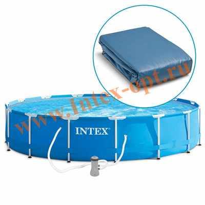 INTEX 10616 Чаша для круглых каркасных бассейнов Metal Frame 366х76 см (для бассейнов арт 28210, 28212)
