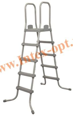 BestWay 58337 Bestway Лестница для каркасных и надувных бассейнов 132 см (с площадкой)