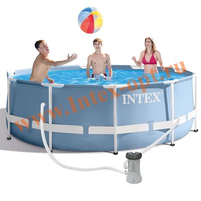 INTEX 26706 Каркасный бассейн Prism Frame 305х99см, фил.-насос 2006л\ч, лестница
