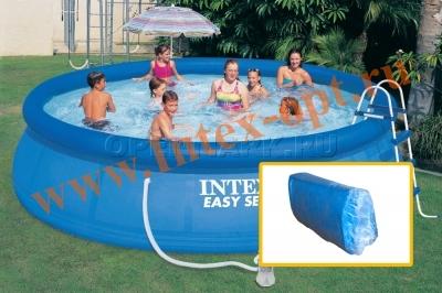 INTEX 10222 Чаша для круглых бассейнов Easy Set с надувным кольцом 457х107