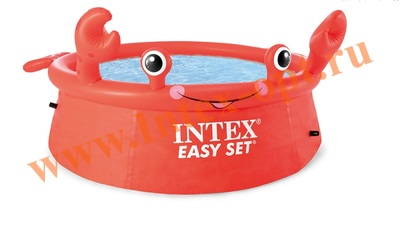 """INTEX 26100 Надувной бассейн Easy Set """"краб"""" 1.83 х 0.51 м."""