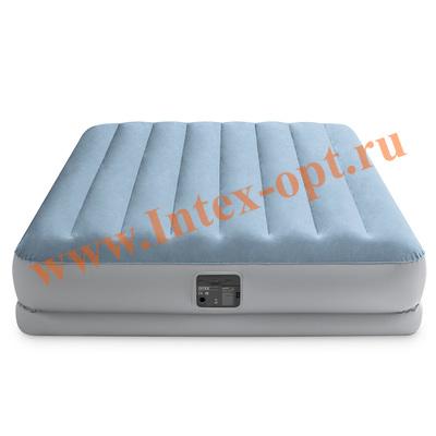 """INTEX 64168 Надувная кровать 152х203х36см """"Raised Comfort"""", встр.нас. 220В"""