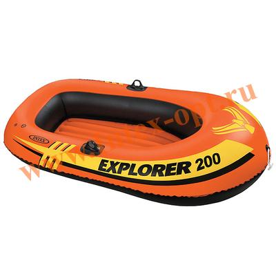 INTEX 58330 Лодка Explorer 200, 185х94х41 см, от 6 лет, до 95 кг, 2 местная.