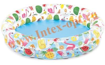 INTEX 59421 Бассейн надувной «Фрукты», 122 х 25 см, от 2 лет.