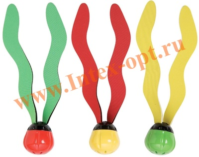 INTEX 55503 Мячики для подводной игры, 3 цвета в наборе, от 6 лет.