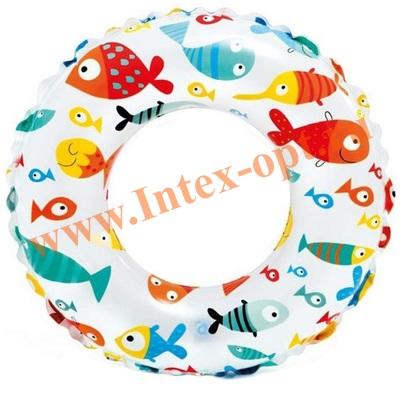 INTEX 59230 Круг для плавания «Яркий», d=51 см, от 3-6 лет.
