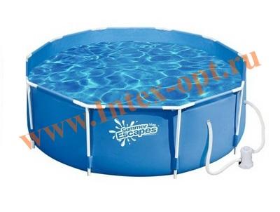 Summer Escapes Р20-1352-А Каркасный бассейн 396х132 см (картриджный фильтр-насос 3000л/ч)