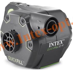 INTEX 66642(66622) Электрический аккумуляторный воздушный насос Quick-Fill RECHARGEGEABLE Pump, 220В/12В