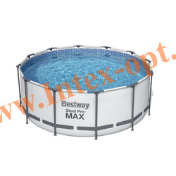 BestWay 56088 Бассейн каркасный 366х122см (картриджный фильтр-насос 2 м3 220 В, лестница, настил, тент + DVD инструкция)