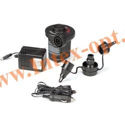 INTEX 66634(66632) Электрический воздушный насос Quick-Fill AC/DC Electric Pump, 220В/12В