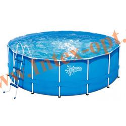 Summer Escapes Бассейн на опорах 427х132 см (лестница, настил, тент)