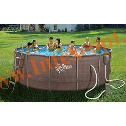 Summer Escapes Бассейн на опорах 488х132 см (фильтр-насос 3,8м3 220В, лестница, настил, тент, набор для чистки DELUXE, скиммер)