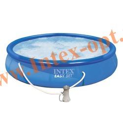 INTEX 28162(56412) Бассейн надувной 457х91 см с фильтр-насосом 3.8 м3/ч 220В