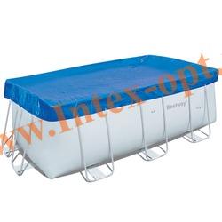 BestWay 58231 Тент для прямоугольных каркасных бассейнов 287х201х100 см