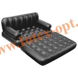BestWay Надувной диван-трансформер Double 5-in-1 Multifunctional Couch 152х188х64 см (черный) с насосом 220В