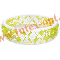 INTEX 56494(57182) Надувной семейный бассейн с надувным полом Swim Center Pinwheel Pool 229х56 см(от 6 лет)