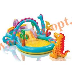 INTEX 57135 Надувной игровой центр-бассейн Dinoland Play Center 333x229х112 см(от 2 лет)
